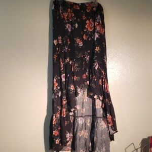 High-low American Eagle Floral Skirt